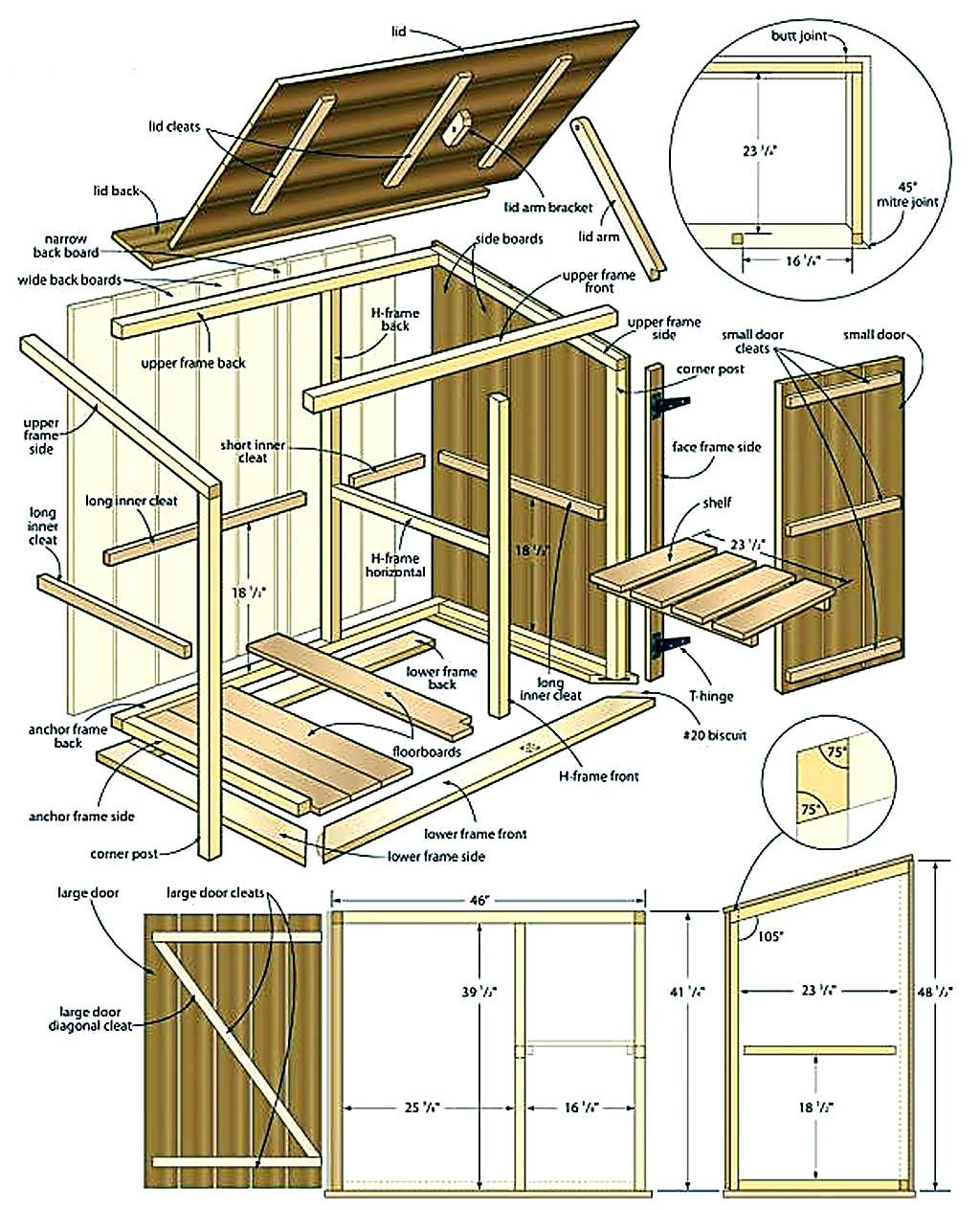 Сарай своими руками: чертежи, список стройматериалов, проекты 12